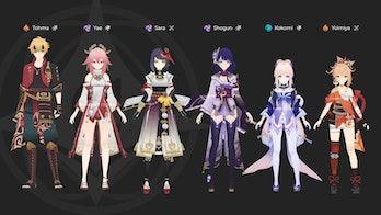 Genshin Impact Leaked Inazuma Characters