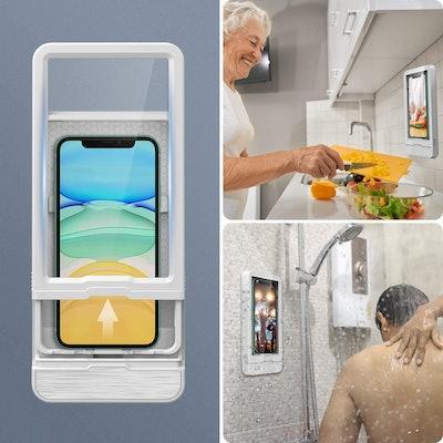 Fansteck Waterproof Wall-Mounted Phone Holder