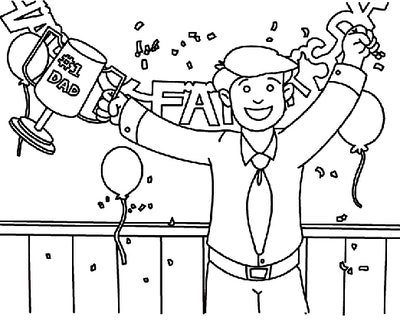 Celebration For Dad Coloring Page