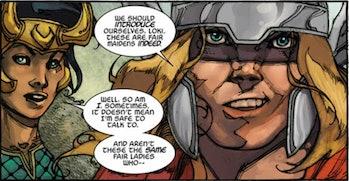 Marvel Comics Loki genderfluid canon series