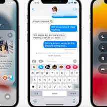 Screenshots of Apple's new focus feature on iOS 15 for iPhone.