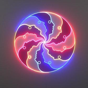 Atlas Round LED neon sign by Jonathan Adler
