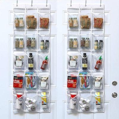 SimpleHouseware Over the Door Hanging Pantry Organizer (2-Pack)