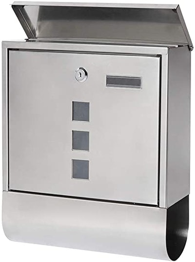 Parrency Stainless Steel Mailbox With Key Lock