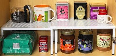 SimpleHouseware Expandable Stackable Kitchen Cabinet Organizer