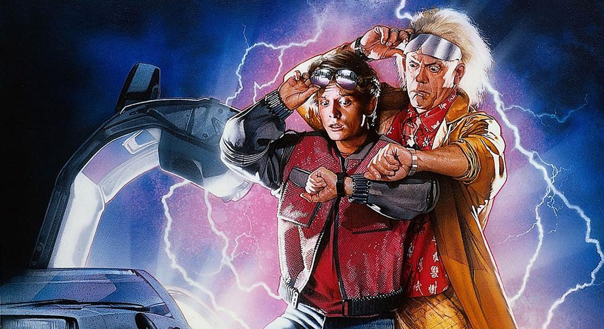 doc and marty illustration from back to the future