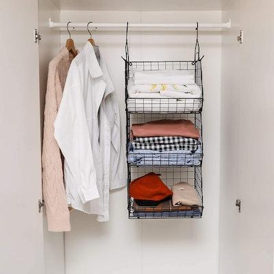 X-cosrack 3 Tier Foldable Closet Organizer
