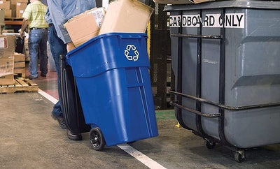 Rubbermaid Brute Rollout Recycling Container