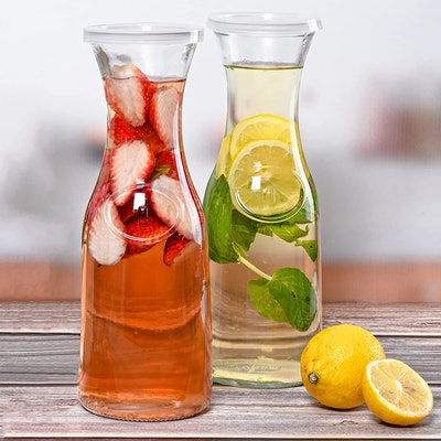 Estilo Glass Beverage Pitchers (Set of 2)