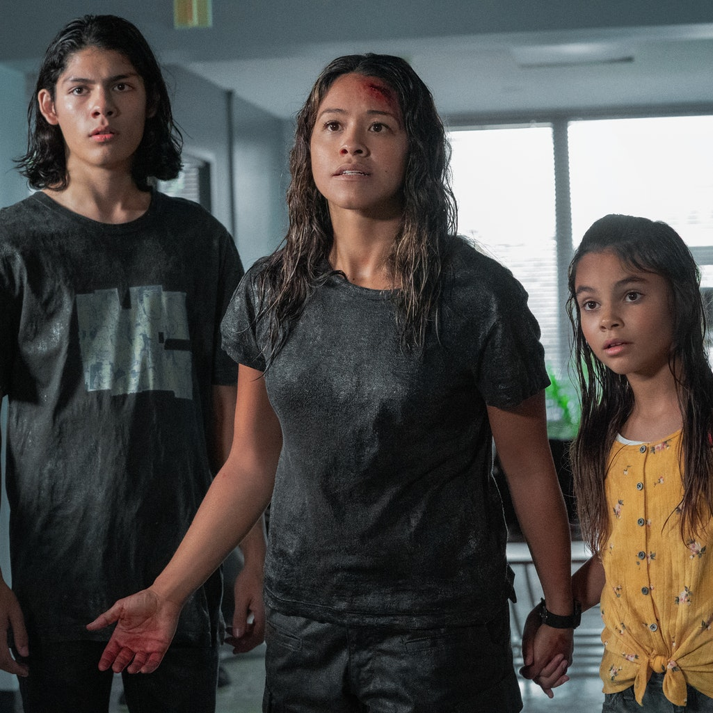 Gina Rodriguez stars in sci-fi thriller 'Awake,' arriving on Netflix this week.