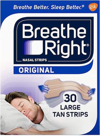 Breathe Right Original Tan Nasal Strips (30-Count)