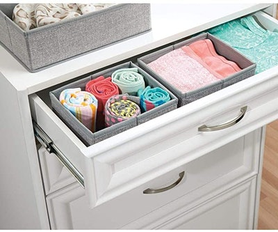mDesign Fabric Organizer Bins