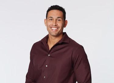 Thomas Jacobs in a maroon shirt  on Katie Thurston's season of 'The Bachelorette'