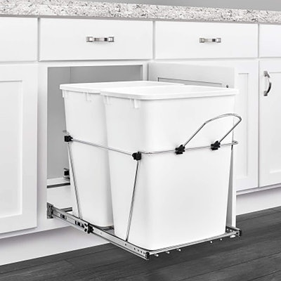 Rev-A-Shelf Pull-Out Waste Containers (2-Pack)