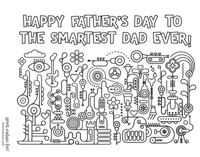 Free Printable Father's Day Coloring Page