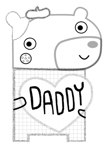 Dad's Artistic Kid Coloring Page