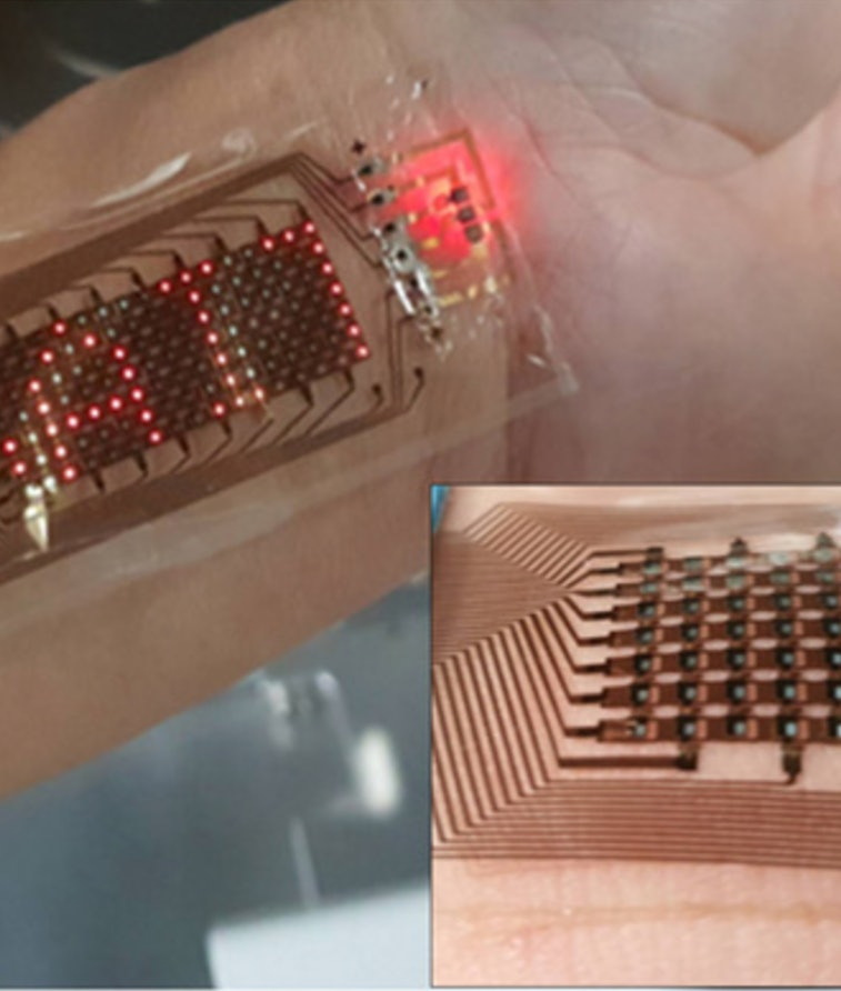 A stretchable screen made by Samsung. Foldable. Display. Technology. Wearables. Medtech.
