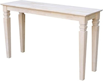 International Concepts Unfinished Sofa Table