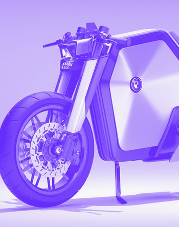 A designer created a concept BMW electric racing bike.
