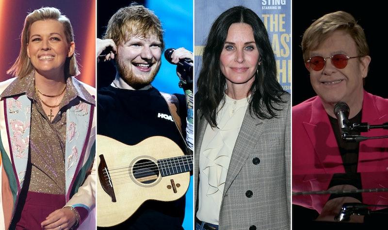 Brandi Carlile, Ed Sheeran, Courteney Cox, and Elton John