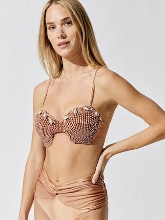 Seashell Beaded Bikini Top