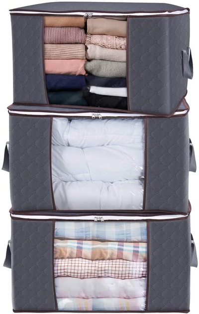 Lifewit Large Capacity Clothes Storage Bag Organizer (3-Pack)