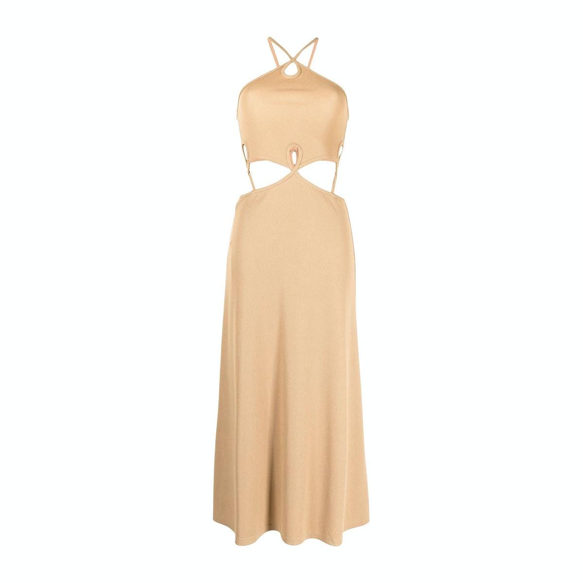 Christopher Esber Looped Cutaway Sleeveless Dress