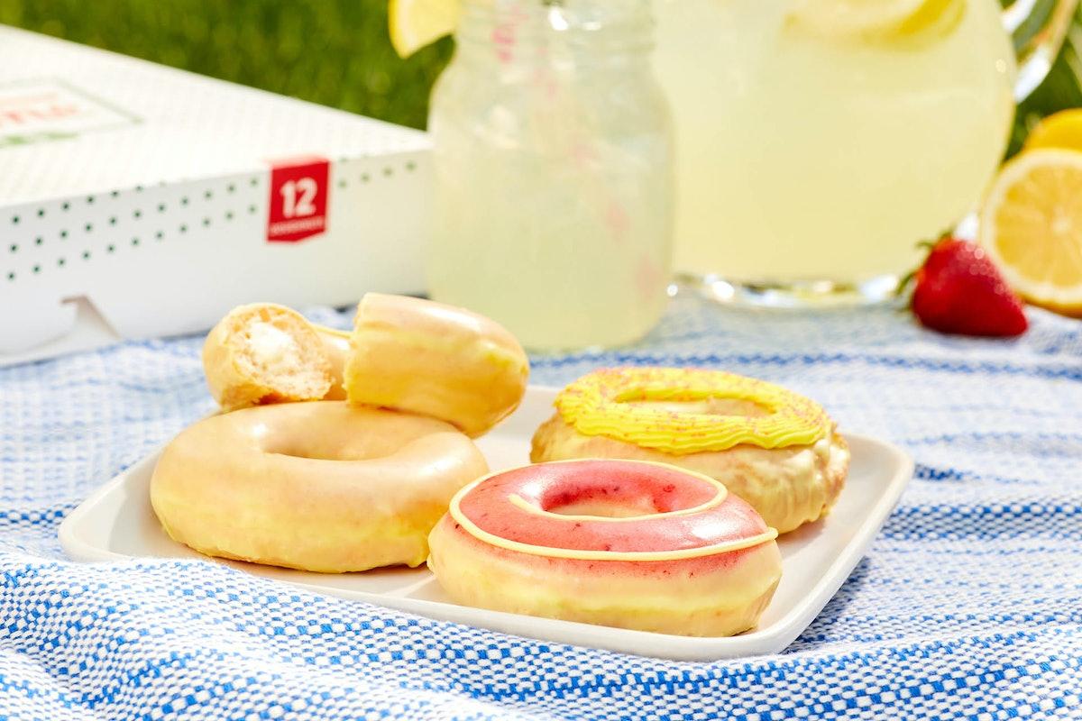 Krispy Kreme's new Lemonade Glaze doughnut collection is pure summer.