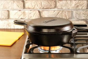 Lodge Pre-Seasoned Cast Iron Double Dutch Oven