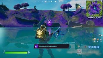 fortnite alien artifact location 1 gameplay