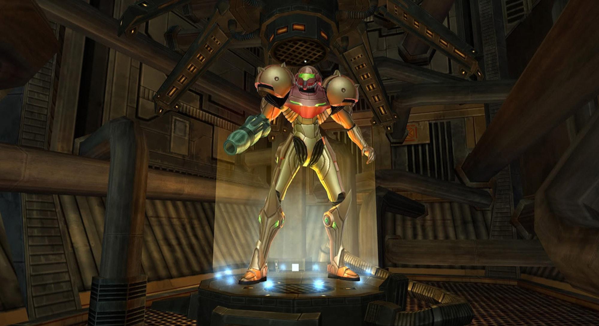 samus in armor from metroid prime
