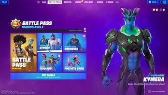 fortnite kymera customization menu