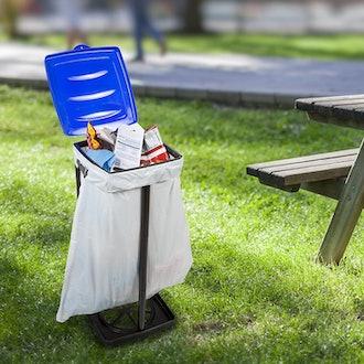 Wakeman Portable Trash Bag Holder