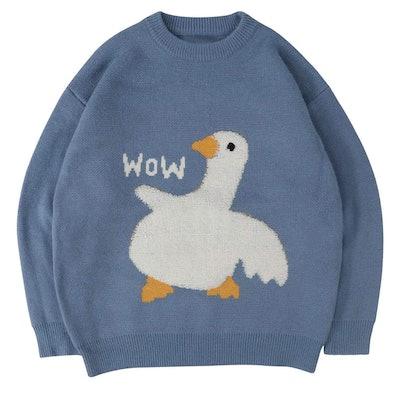 Cartoon Goose Sweater