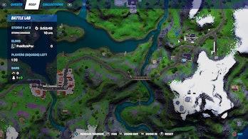 fortnite alien artifact location 2 map