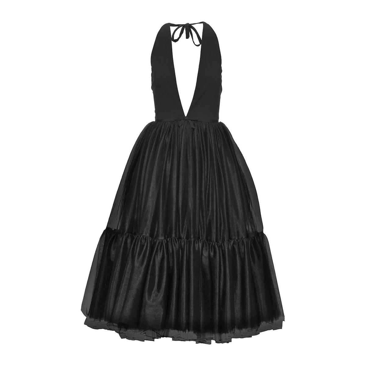 Miu Miu V-Neck Tulle Dress