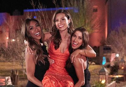 Katie Thurston, Tayshia Adams, and Kaitlyn Bristowe behind the scenes of 'The Bachelorette' Season 1...