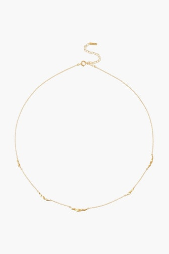Gold Crescent Link Necklace