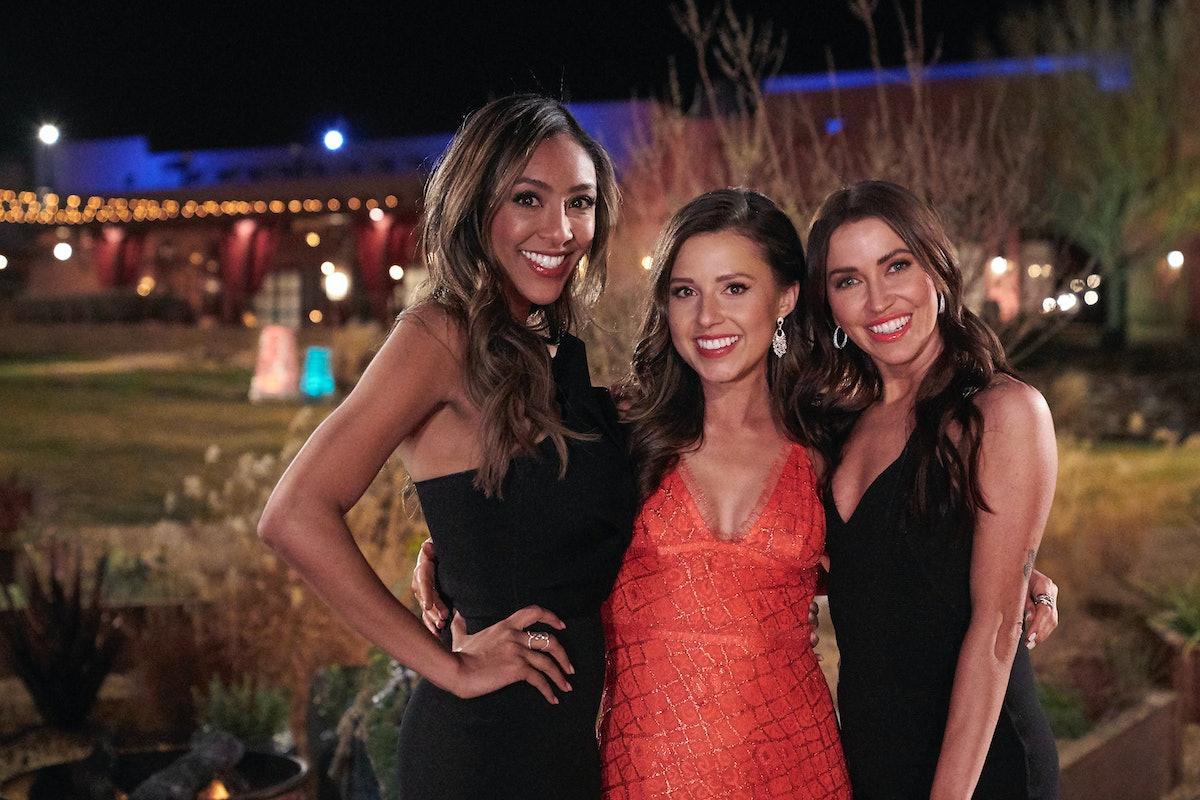 Tayshia Adams, Katie Thurston, and, Katilyn Bristowe filming 'The Bachelorette.'