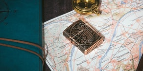 World Map Design Armor® Antique Copper Lighter