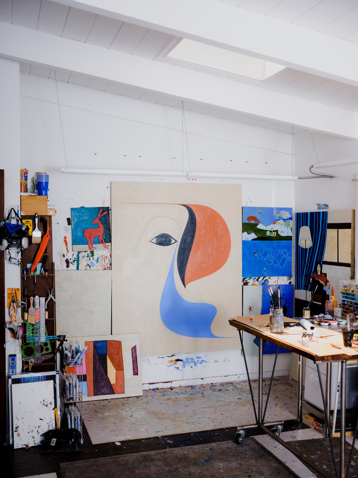 inside Clare Roja's studio