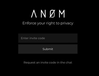The website for ANOM, an encrypted messaging app created by the FBI to catch suspected criminals.