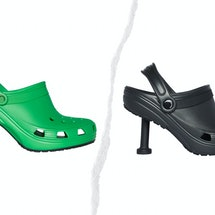 The internet is reacting to the latest iteration of Crocs to hit the market: Crocs stilettos courtesy of Balenciaga.