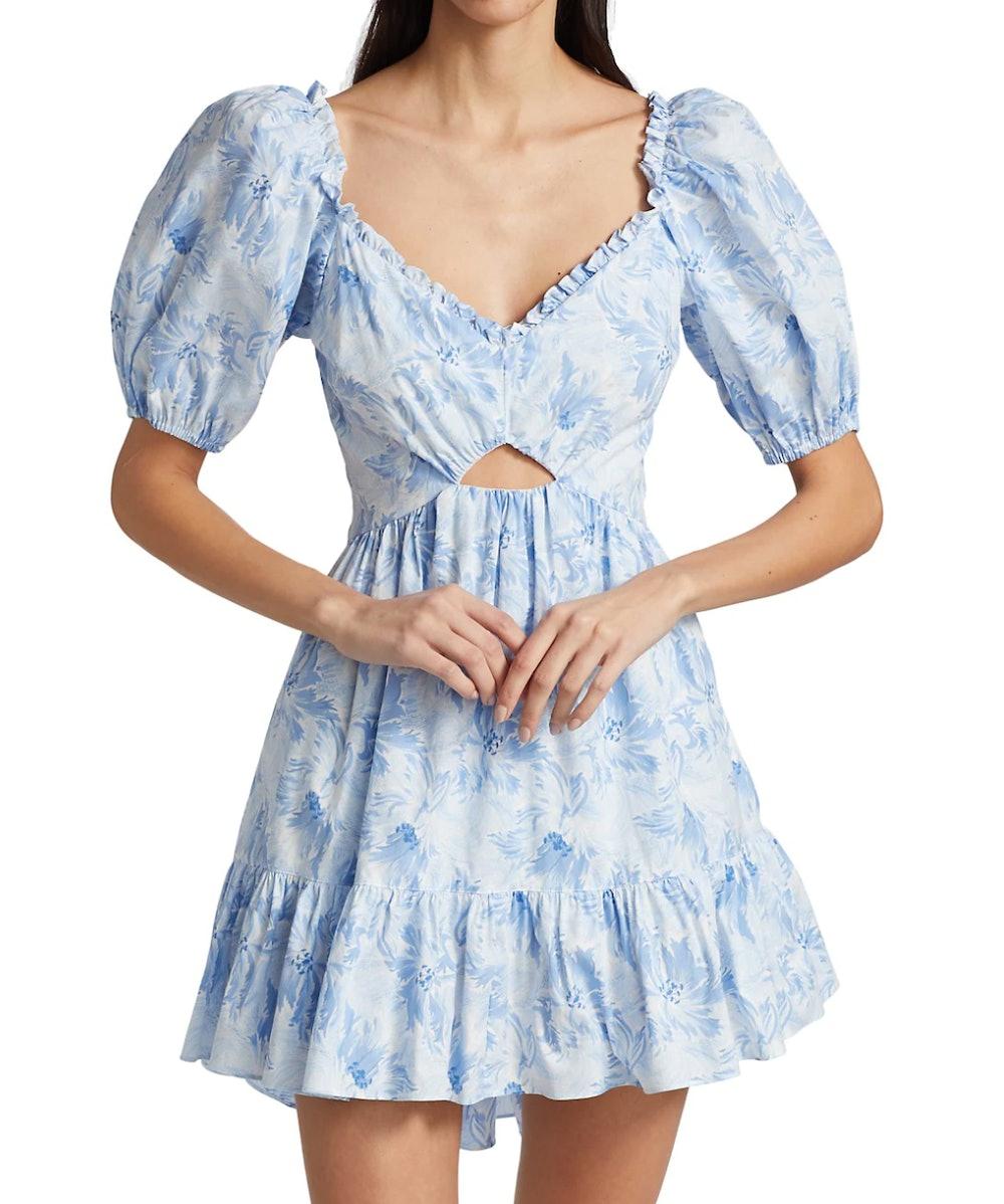 Kayla Puff-Sleeve Mini Dress
