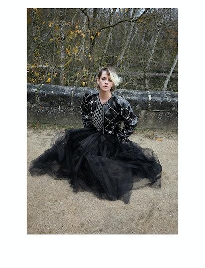 Kristen Stewart from Chanel's Le Château des Dames Métiers d'art 2020/2021 campaign.