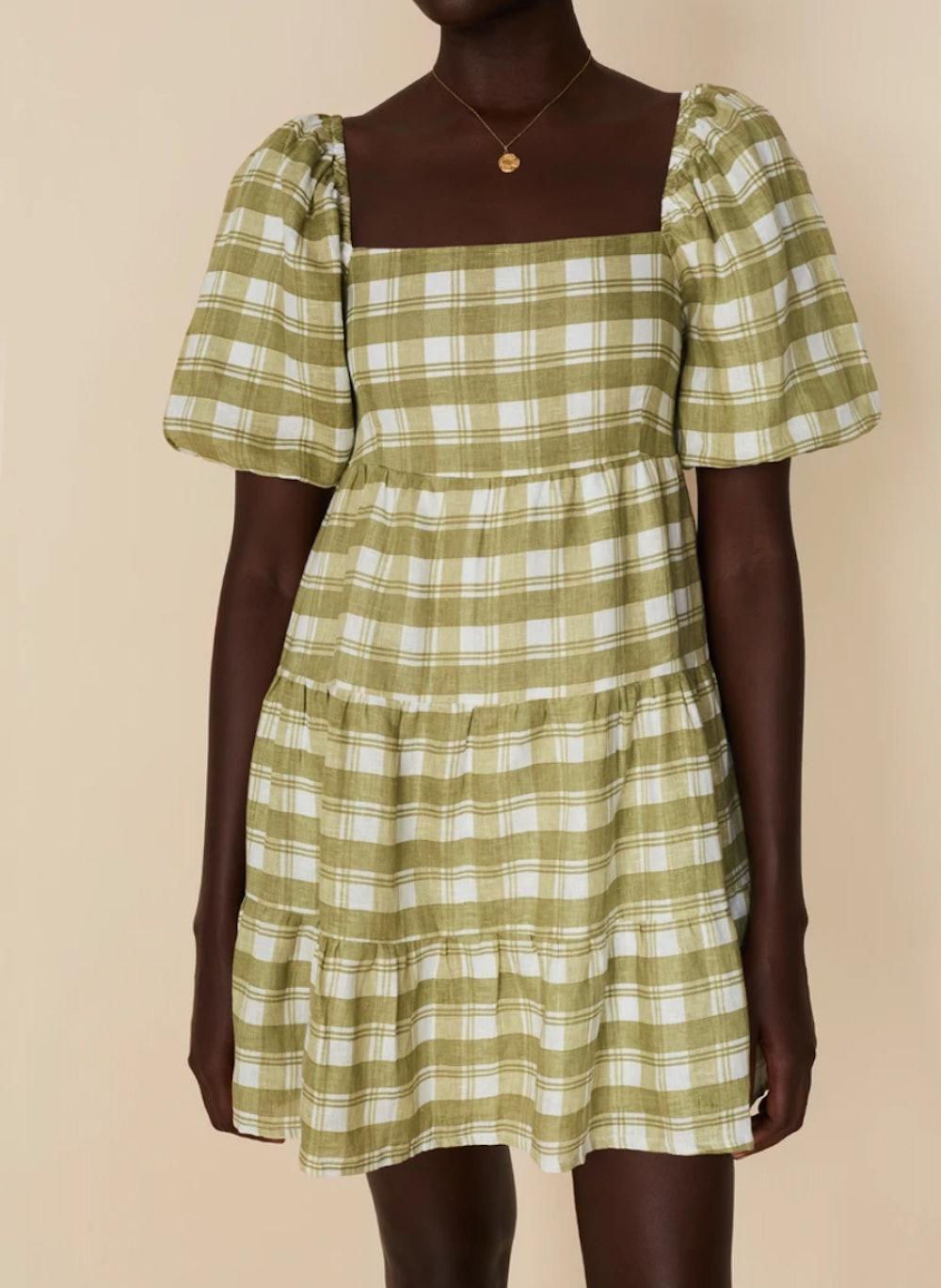Leilani Mini Dress Ligne Check