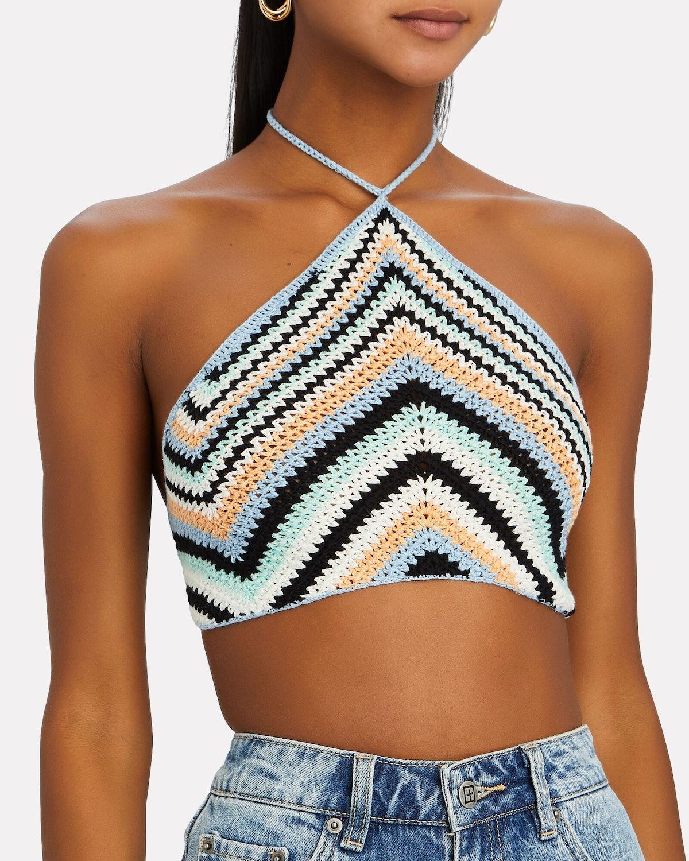Crochet Cotton Halter Crop Top