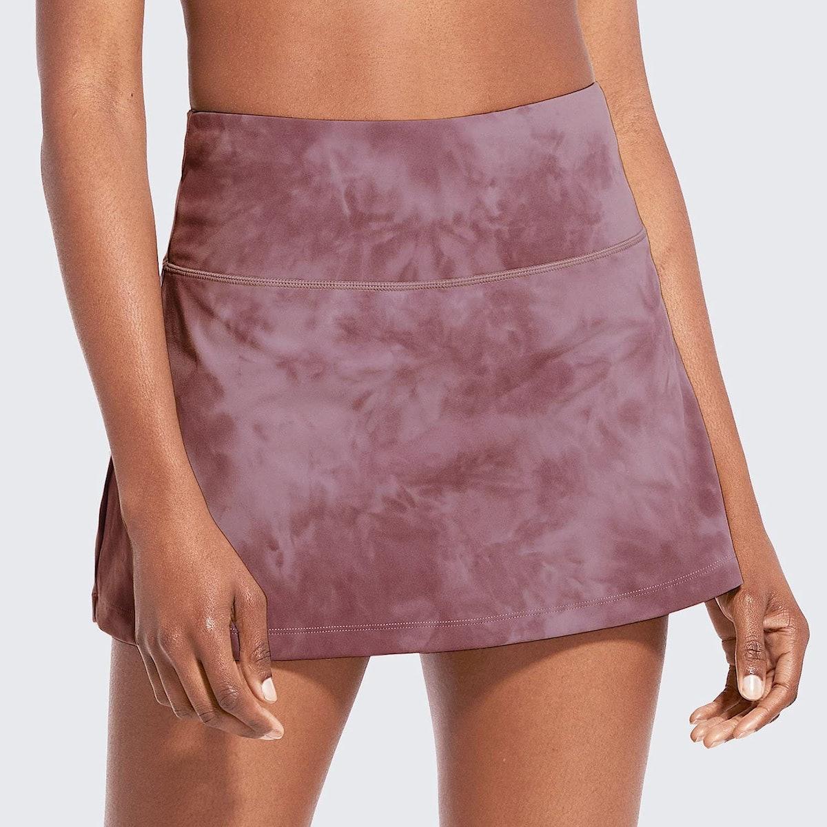 BALEAF High-Waisted Tie-Dye Tennis Skirt