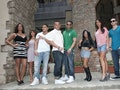 The 'Jersey Shore' cast, with their differing zodiac signs, posing in Florence, Italy.