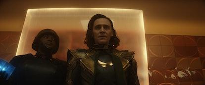 Wunmi Mosaku and Tom Hiddleston in 'Loki.' Photo via Marvel